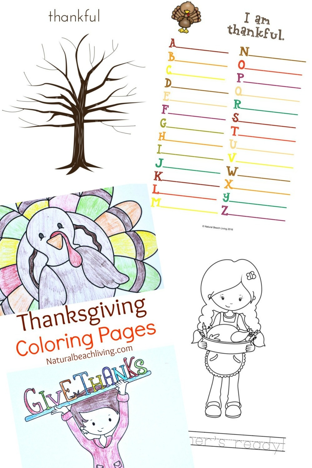 Thanksgiving Printables For Kids - Natural Beach Living - Free Printable Thanksgiving Activities