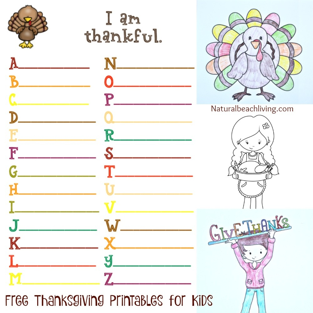 Thanksgiving Printables For Kids - Natural Beach Living - Free Printable Thanksgiving Activities For Preschoolers