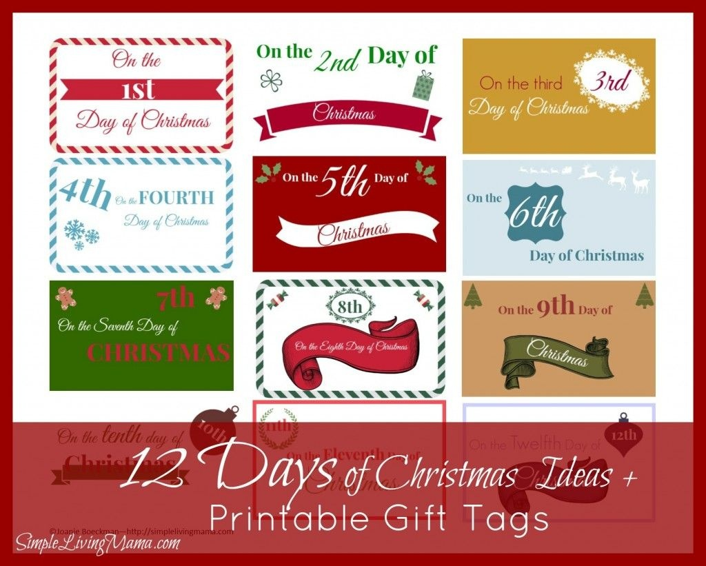 The 12 Days Of Christmas Ideas + Printable Gift Tags | Marriage - Free Printable 12 Days Of Christmas Gift Tags