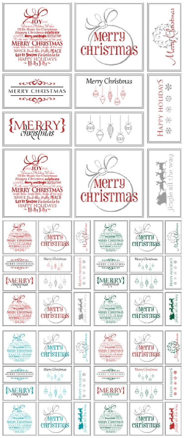 The Best Free Christmas Printables – Gift Tags, Holiday Greeting - Free Printable Christmas Gift Tags