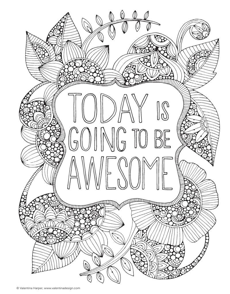The Coolest Free Coloring Pages For Adults - Free Printable Coloring Cards For Adults