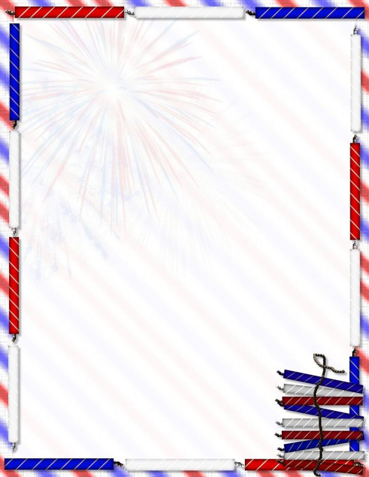 Free Printable 4Th Of July Stationery