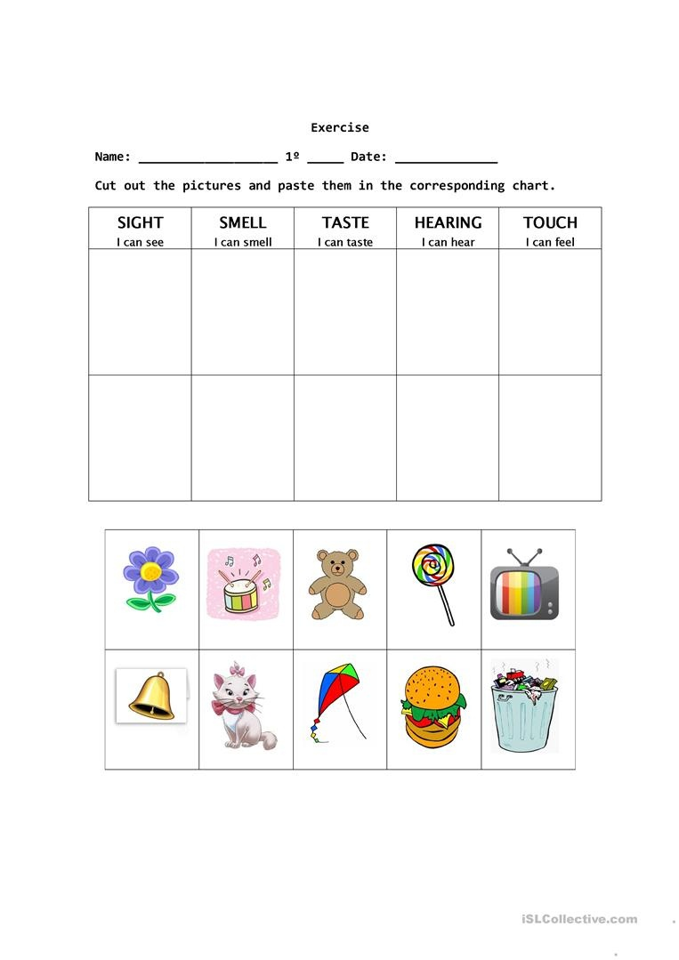 The Five Senses Worksheet - Free Esl Printable Worksheets Made - Free Printable Worksheets Kindergarten Five Senses