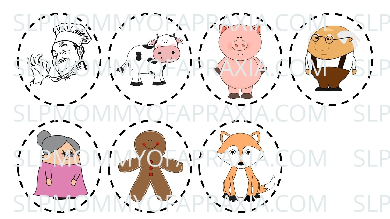 The Gingerbread Man Speech/language Activity/companion Pack - Slp - Free Printable Version Of The Gingerbread Man Story