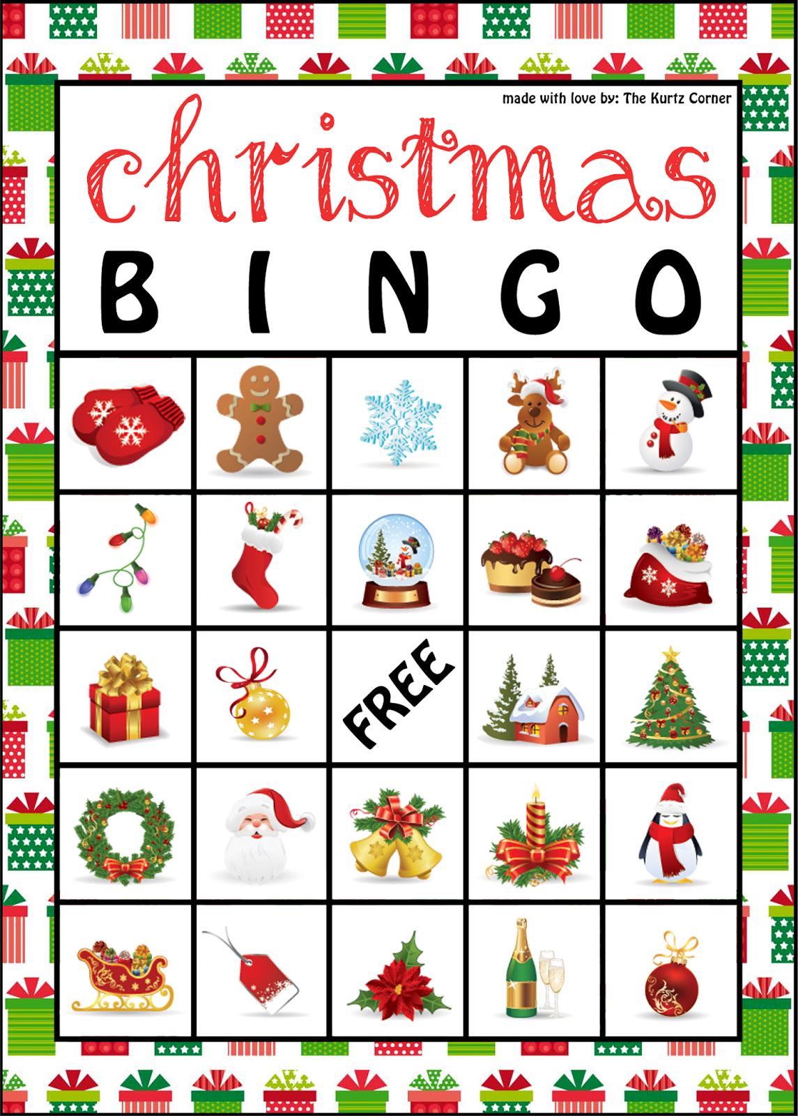 The Kurtz Corner: Free Printable Christmas Bingo Cards | Winter / X - Free Printable Christmas Bingo