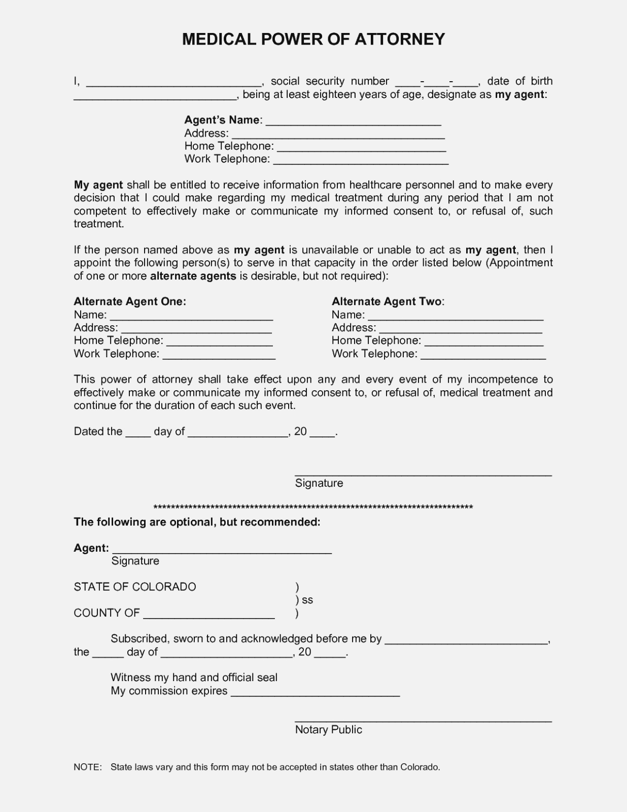 The Latest Trend In Online | The Invoice And Form Template - Free Printable Power Of Attorney Forms Online
