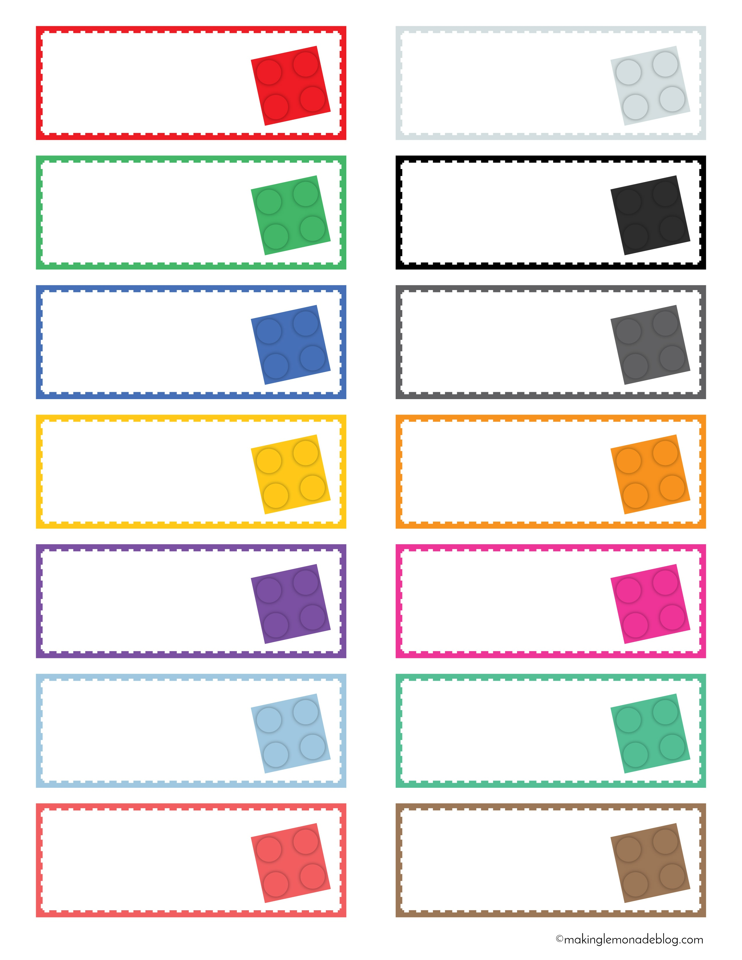The Magical Lego Organizing Solution & Free Printable Labels - Free Printable Labels