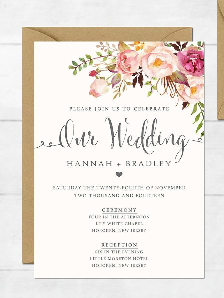 The Surprising Free Printable Wedding Invitation Templates For Word - Free Printable Wedding Cards