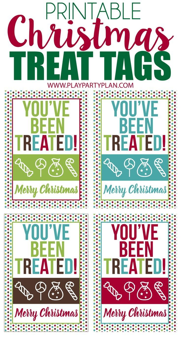 These Free Printable Christmas Treat Tags Are Perfect To Use As Bag - Free Printable Gift Bag Tags