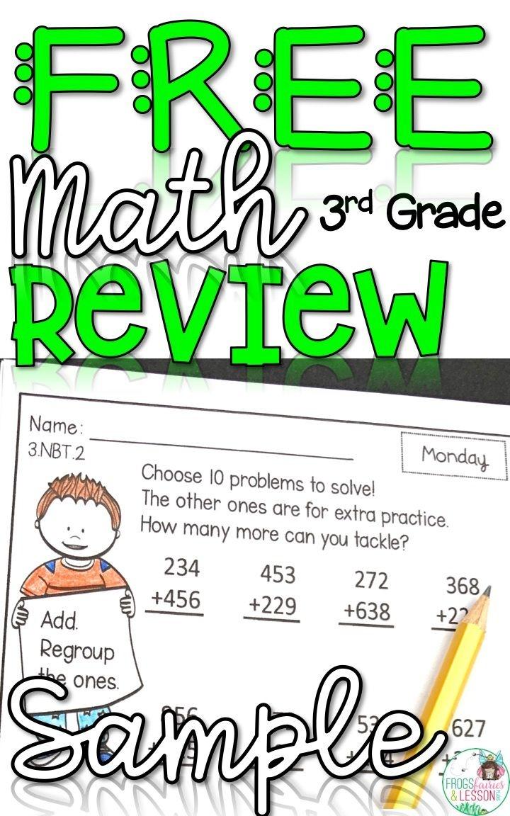 Third Grade Math Homework - Free Sample | Free Printable Resources - Free Printable Common Core Math Worksheets For Third Grade
