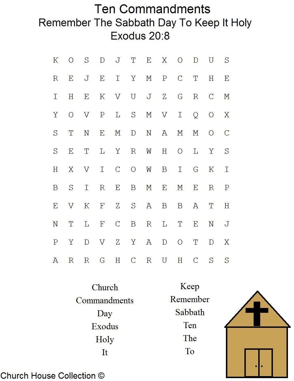 This Is A Free Printable Ten Commandments Word Find Puzzle For The - Free Catholic Ten Commandments Printable