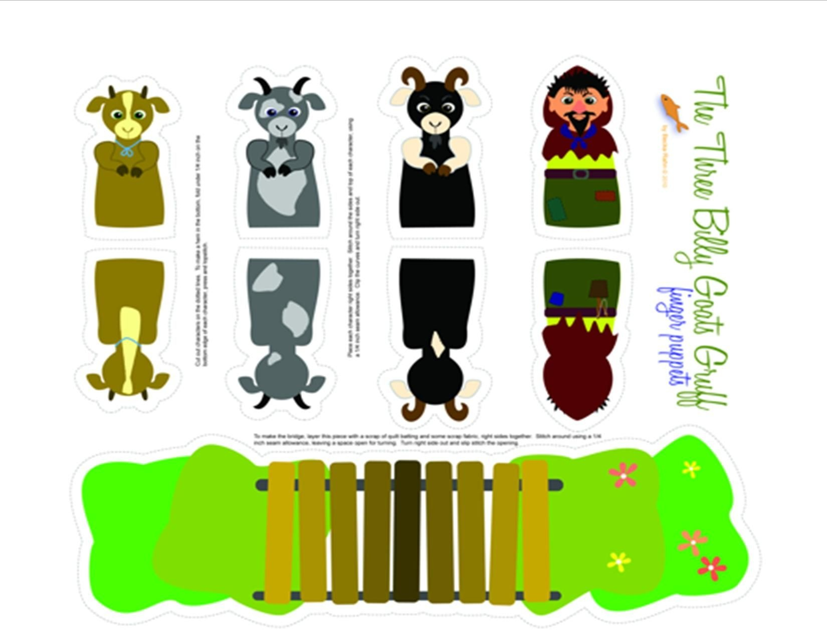 Three Billy Goats Gruff Printable Puppets | Pre-K | Billy Goats - Three Billy Goats Gruff Masks Printable Free