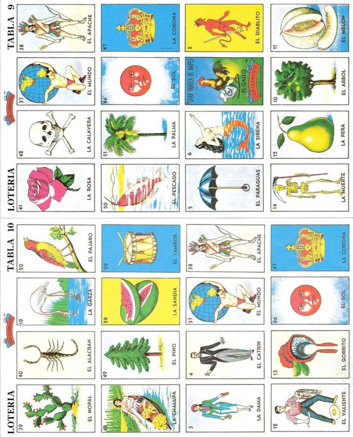 Free Printable Loteria Cards
