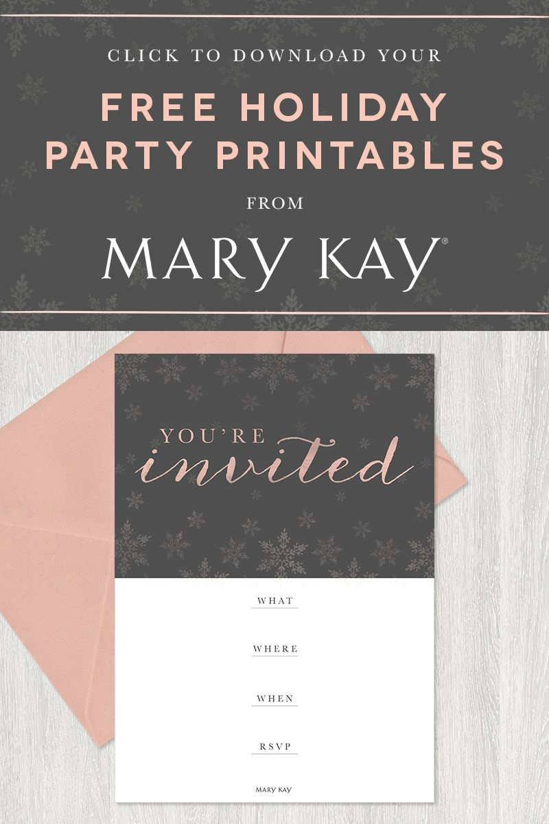 Tis The Season To Party! Extend A Stylish Invitation To Your Guests - Mary Kay Invites Printable Free