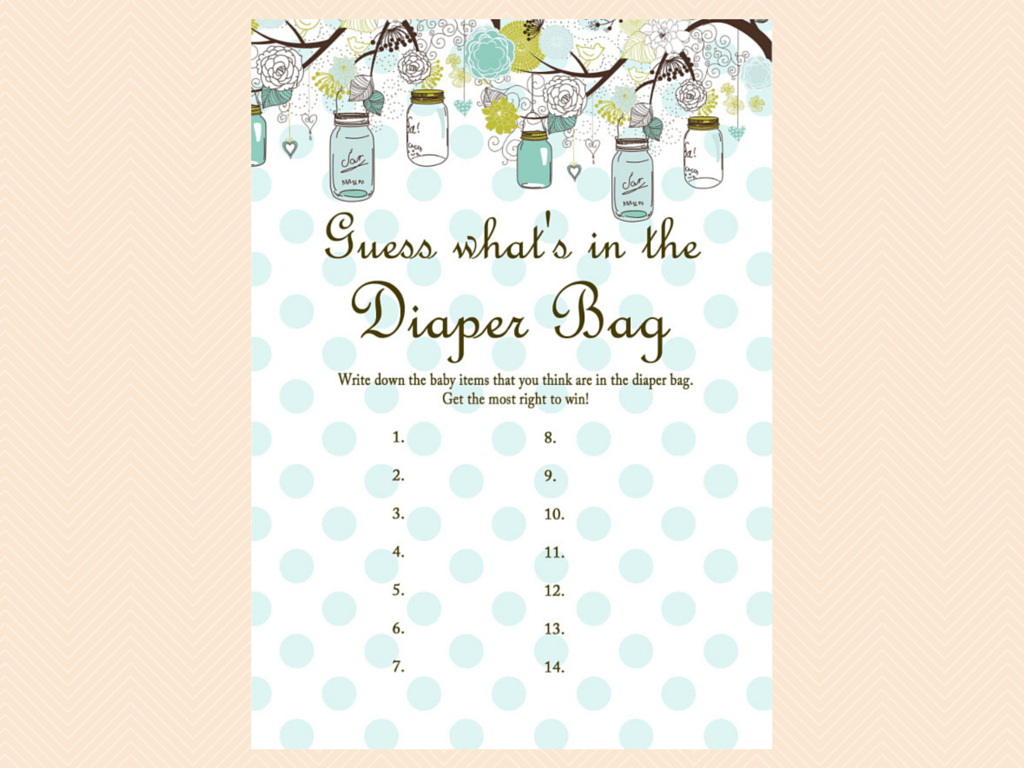 Tlc16 Archives - Magical Printable - What's In The Diaper Bag Game Free Printable
