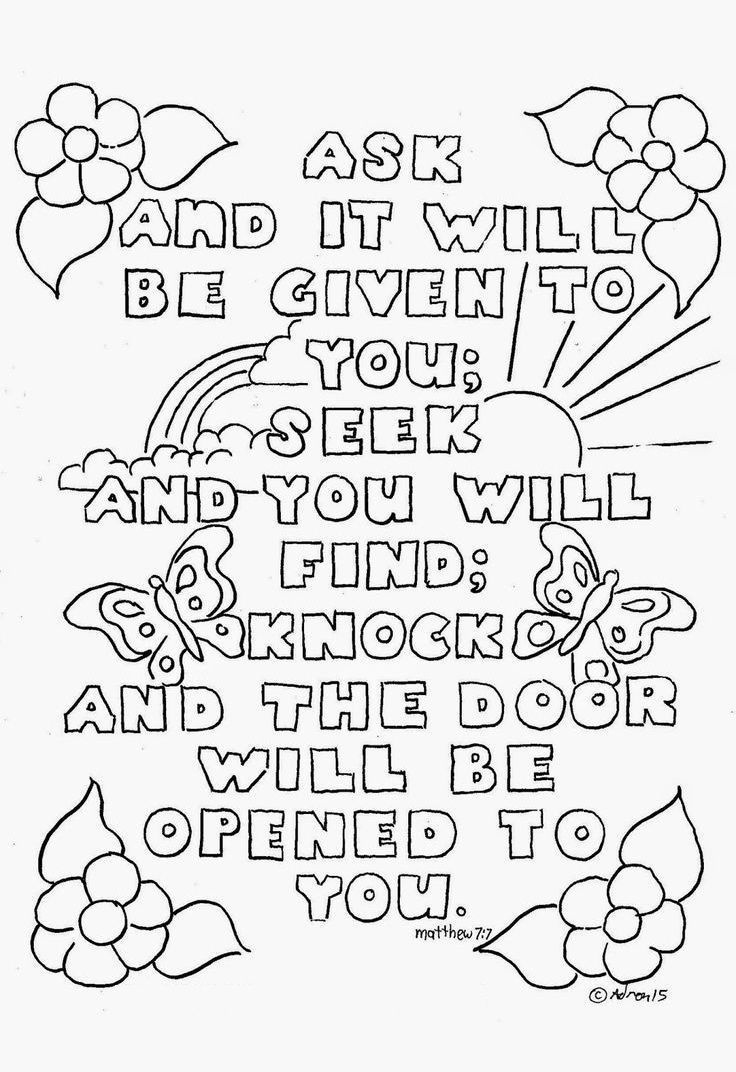 Top 10 Free Printable Bible Verse Coloring Pages Online   Coloring - Free Printable Bible Coloring Pages With Verses