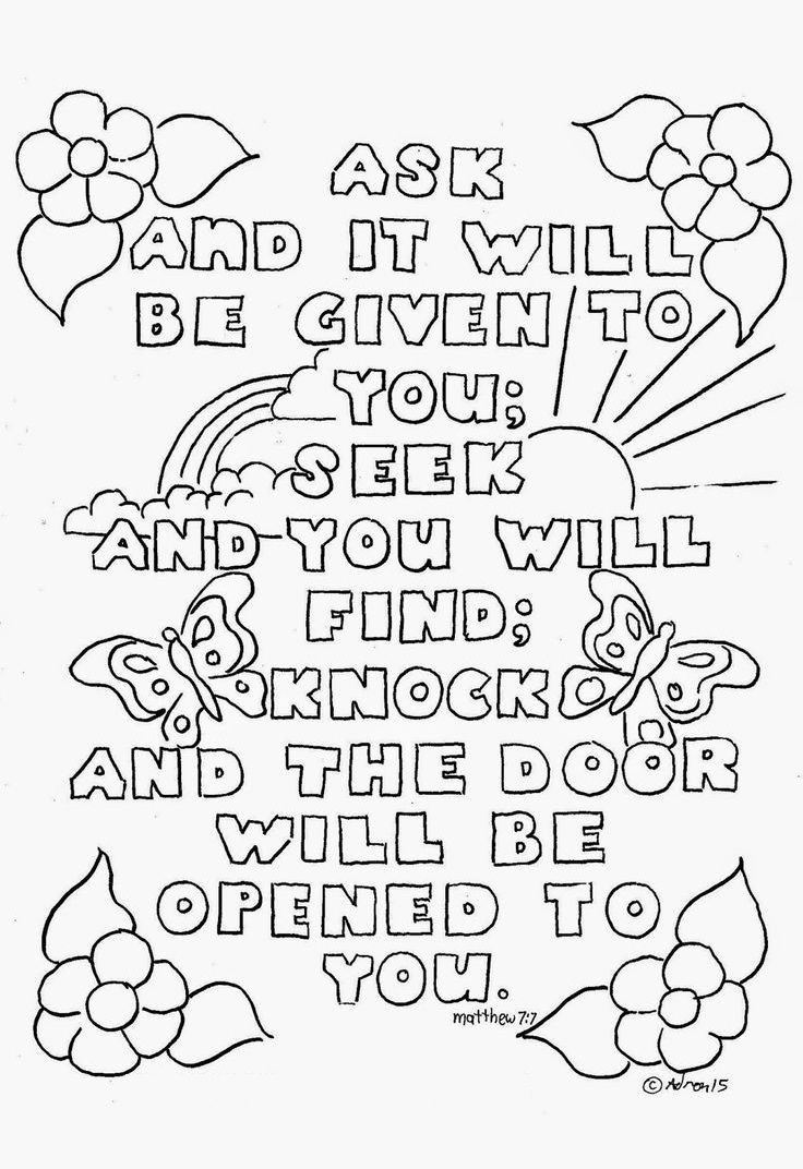 Top 10 Free Printable Bible Verse Coloring Pages Online   Coloring - Free Printable Sunday School Coloring Sheets