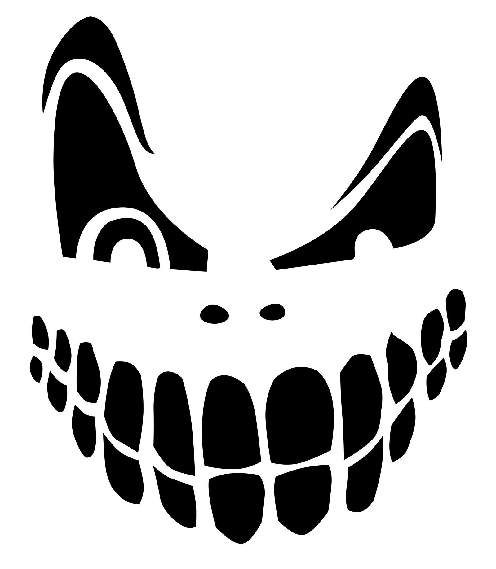 Top 100+ Jack O Lantern Faces Patterns Stencils Ideas   Halloween - Free Printable Pumpkin Faces