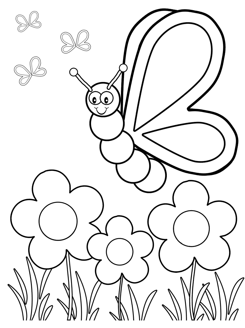 Top 50 Free Printable Butterfly Coloring Pages Online | Coloring - Free Printable Pages For Preschoolers