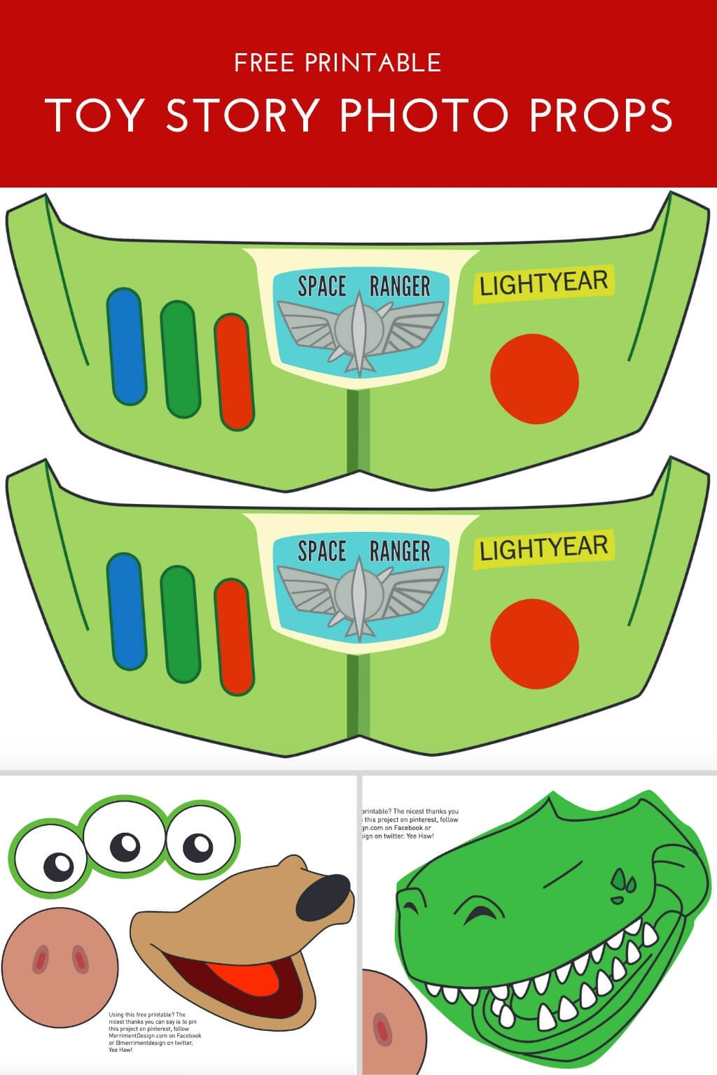 Toy Story Photo Booth Props {Free Printable Pdf} - Merriment Design - Free Photo Booth Props Printable Pdf