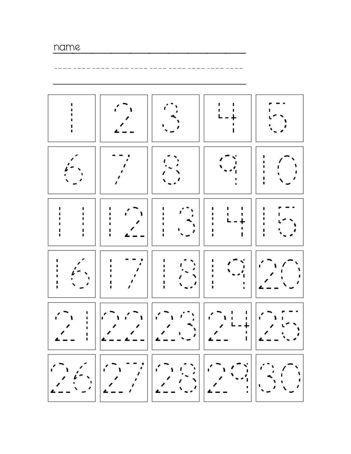 Trace Number Worksheets Free   Kiddo Shelter   Kids Worksheets - Free Printable Tracing Numbers 1 20 Worksheets