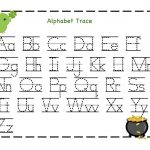 Traceable Letter Worksheets To Print | Schoolwork For Taj And Bre   Free Printable Alphabet Worksheets For Kindergarten