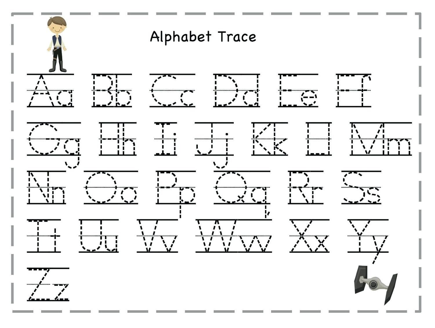 Tracing Letters For Toddlers Tracing Name Template Alphabet - Free Printable Traceable Letters