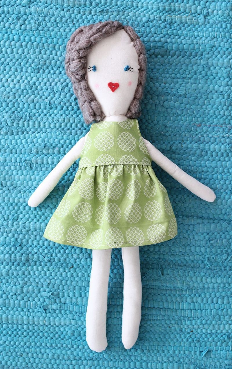 Traditional Rag Doll Diy | Crafts And Stuffed Creations | Diy Rag - Free Printable Cloth Doll Sewing Patterns