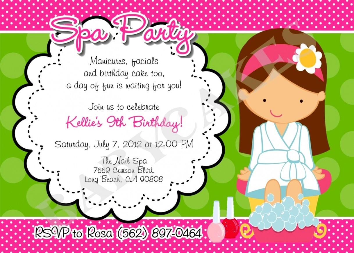 Trend Spa Birthday Invitations Free Printable Party At Home In 2018 - Free Printable Spa Party Invitations Templates