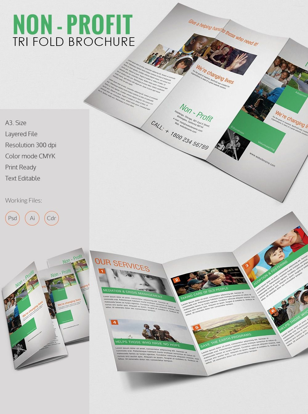 Tri Fold Brochure Template - 43+ Free Word, Pdf, Psd, Eps, Indesign - Free Printable Brochure Maker Download