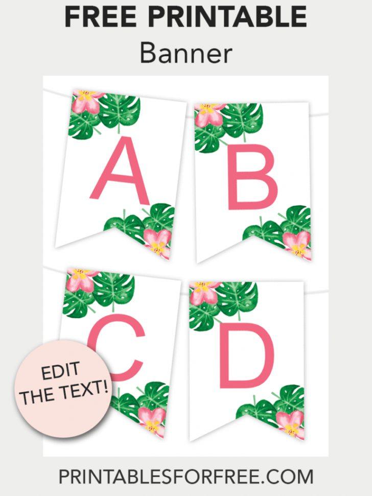 Free Printable Banner Maker