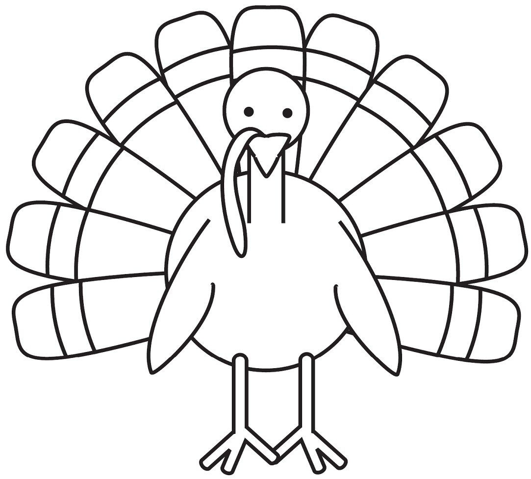 Turkey Coloring Page - Free Large Images   School Decoration Ideas - Free Printable Pictures Of Turkeys To Color