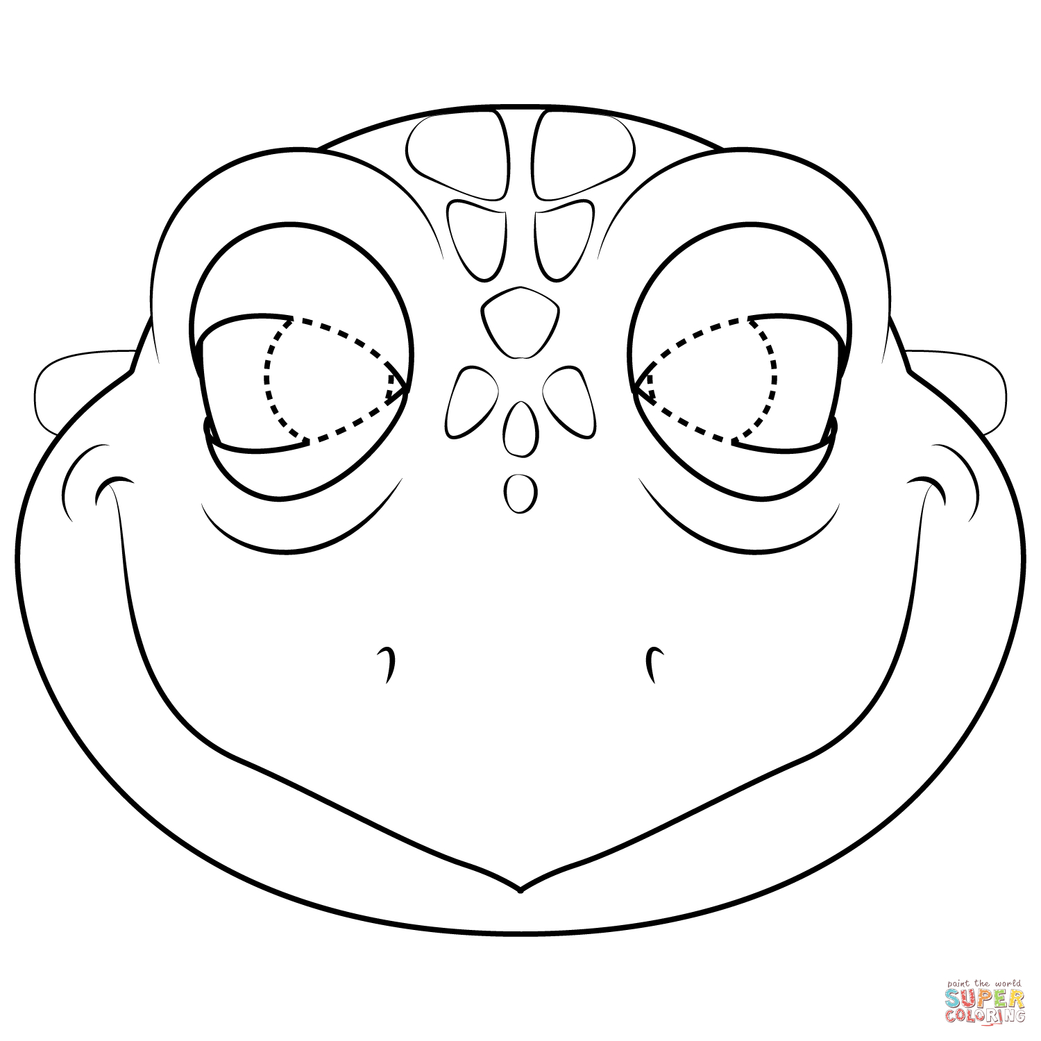 Turtle Mask Coloring Page | Free Printable Coloring Pages - Free Printable Lizard Mask