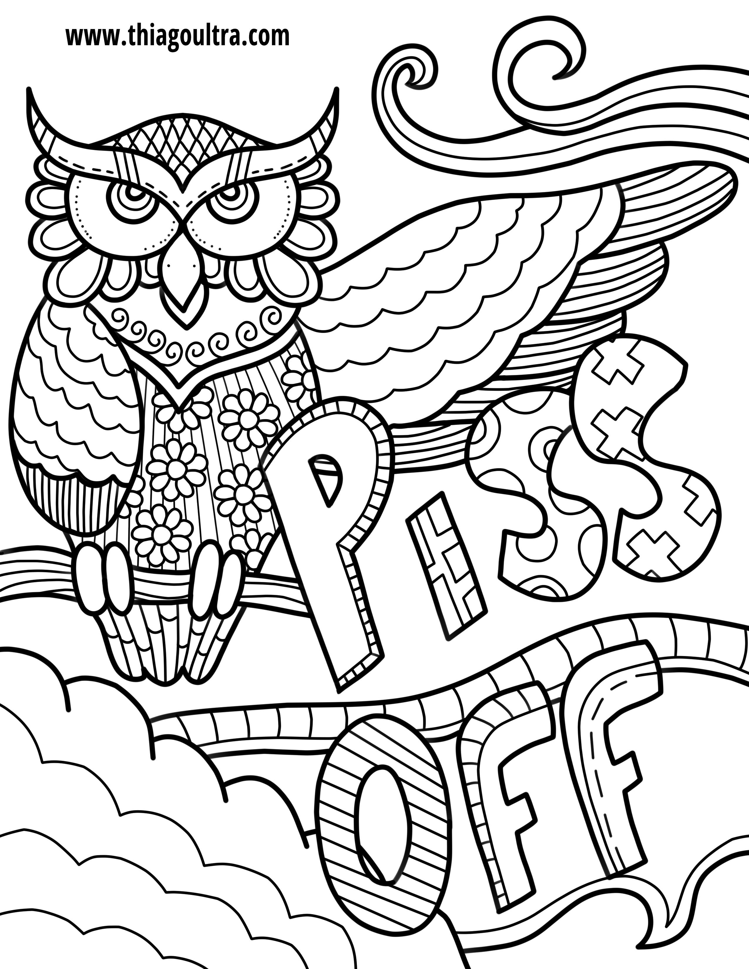 Unique Free Printable Coloring Pages For Adults Only Swear Words - Free Printable Swear Word Coloring Pages