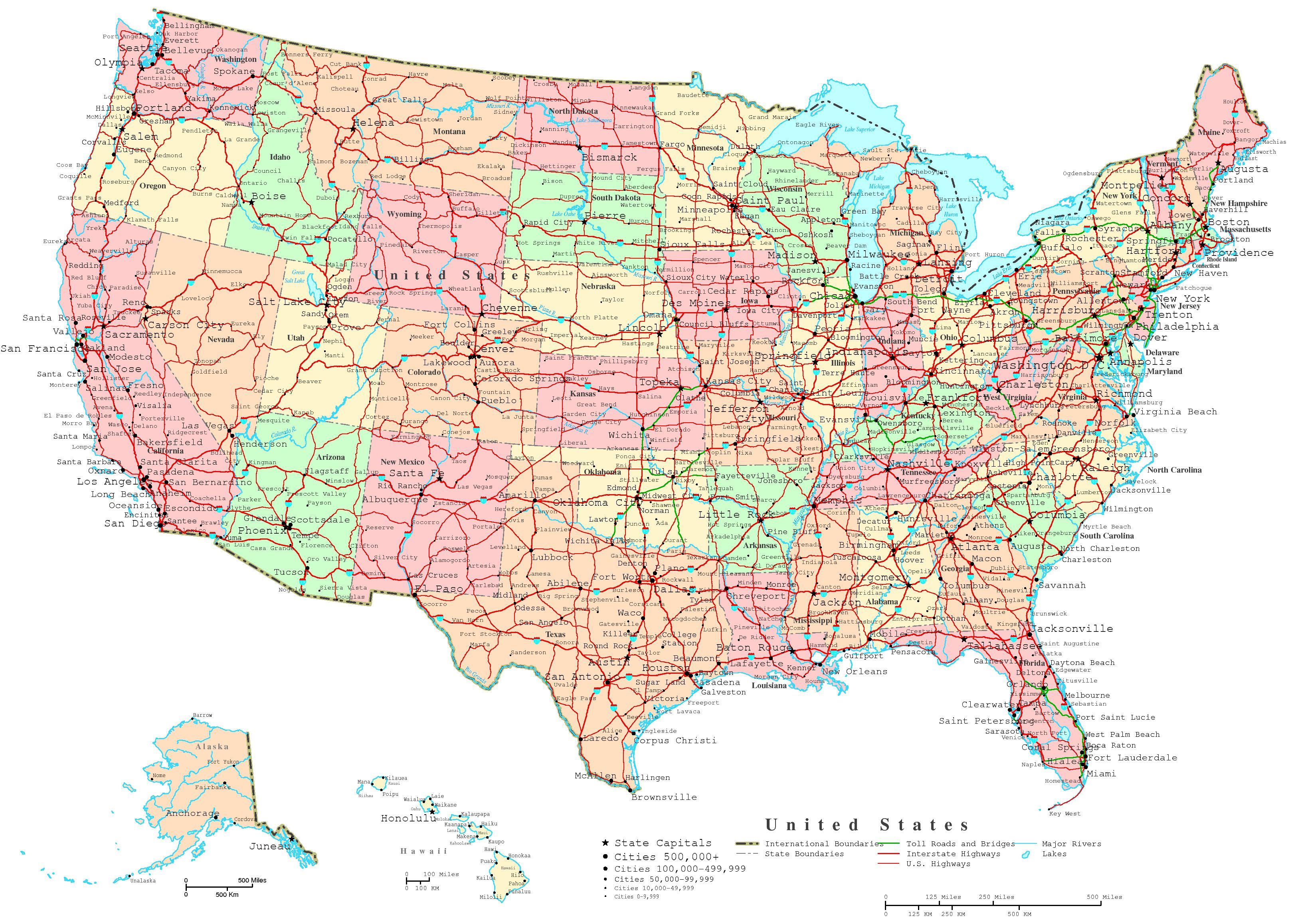 United States Printable Map - Free Printable State Maps