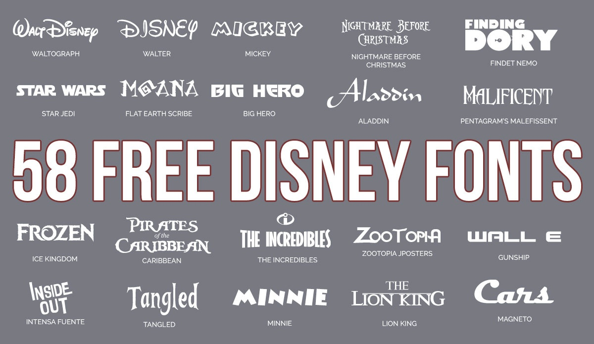 Updated: 59 Free Disney Fonts (June 2019 Edition) - Free Printable Disney Font Stencils