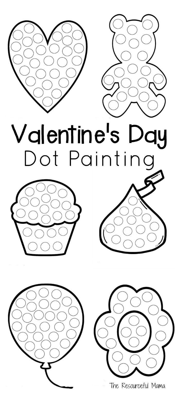 Valentine's Day Dot Painting   The Resourceful Mama   Valentines Day - Do A Dot Art Pages Free Printable