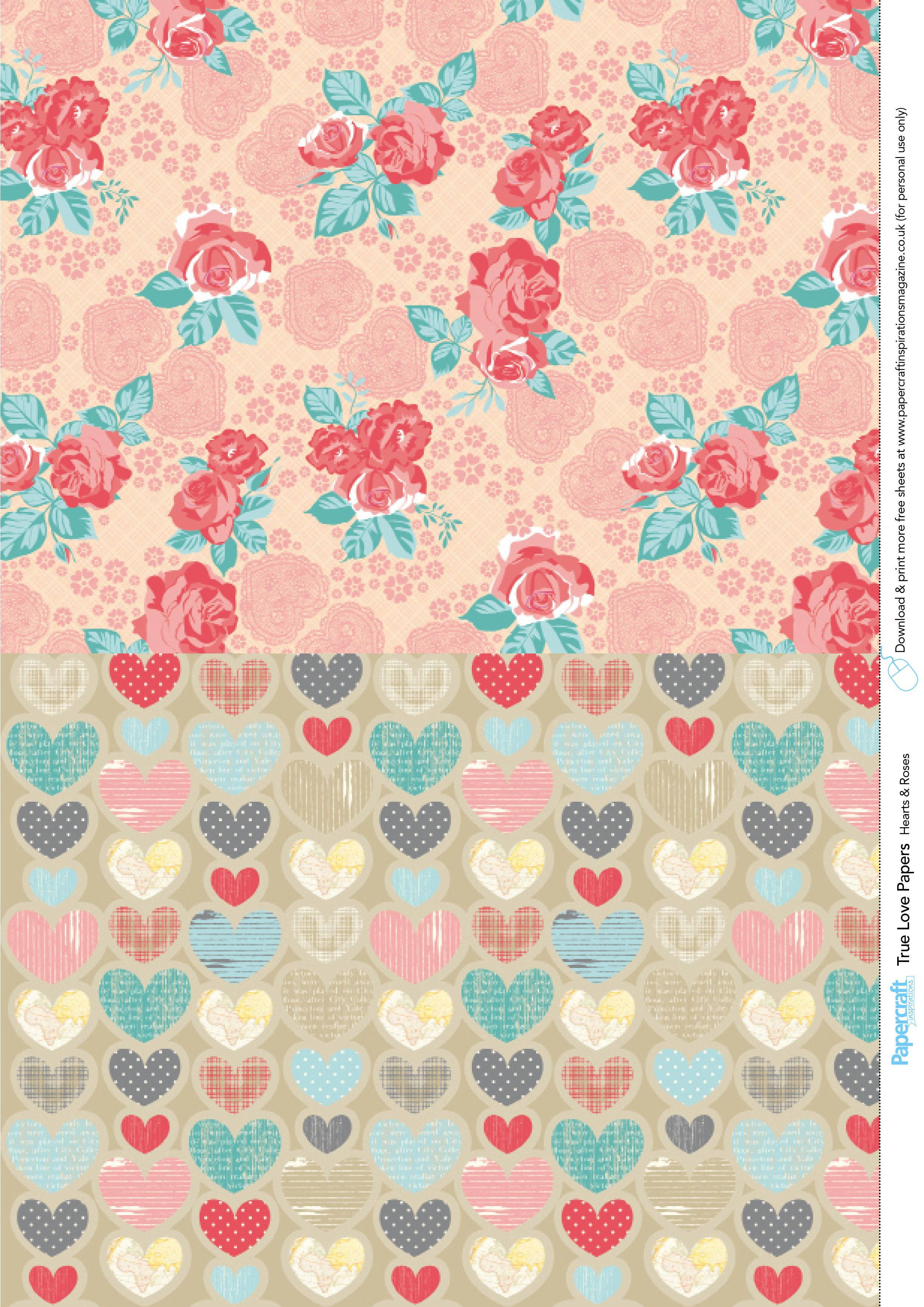 Valentine's Day Free Printable Papers | Free Printables | Digital - Free Printable Pattern Paper Sheets