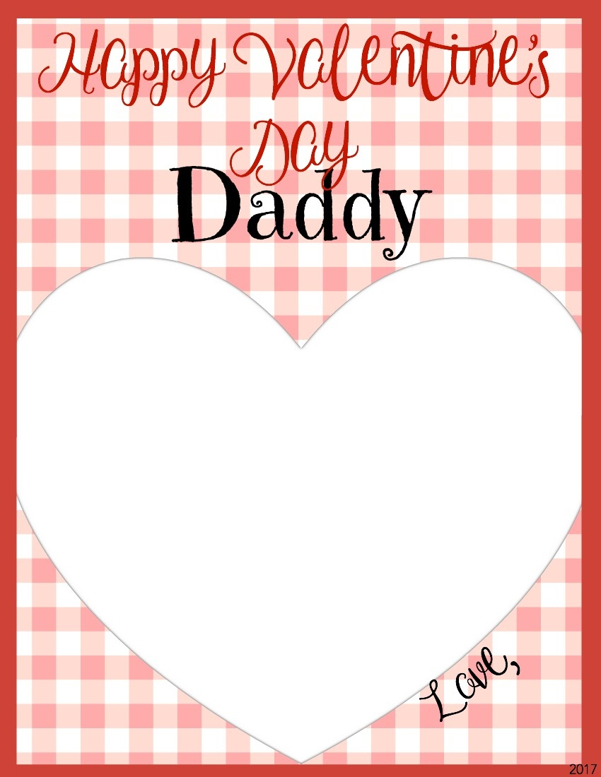 Valentine's Day Memory Keepsake Printable Cards For Parents - Jessi - Free Printable Valentines Day Cards For Parents