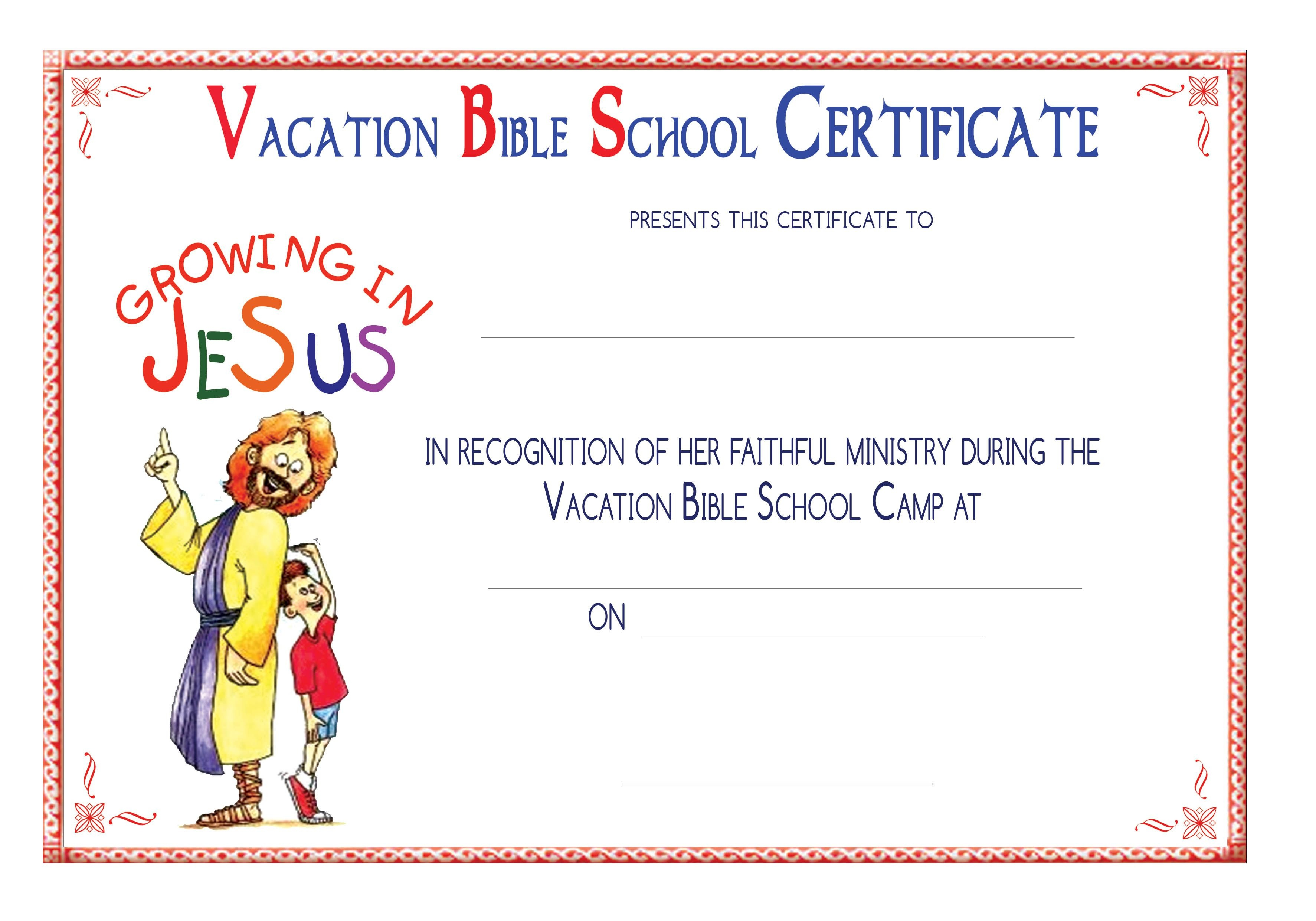 Vbs Certificate Templatesencephalos | Encephalos | Church - Free Printable School Certificates Templates