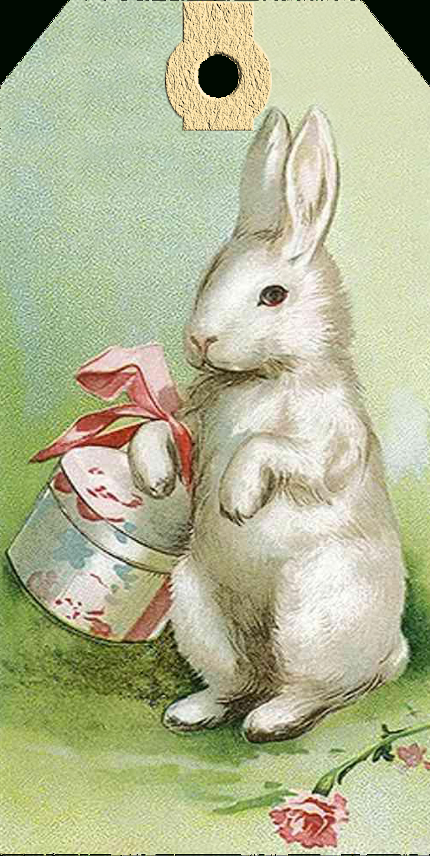 Vintage Easter Bunny Tags – Free Printables | Easter | Easter - Free Printable Vintage Easter Images