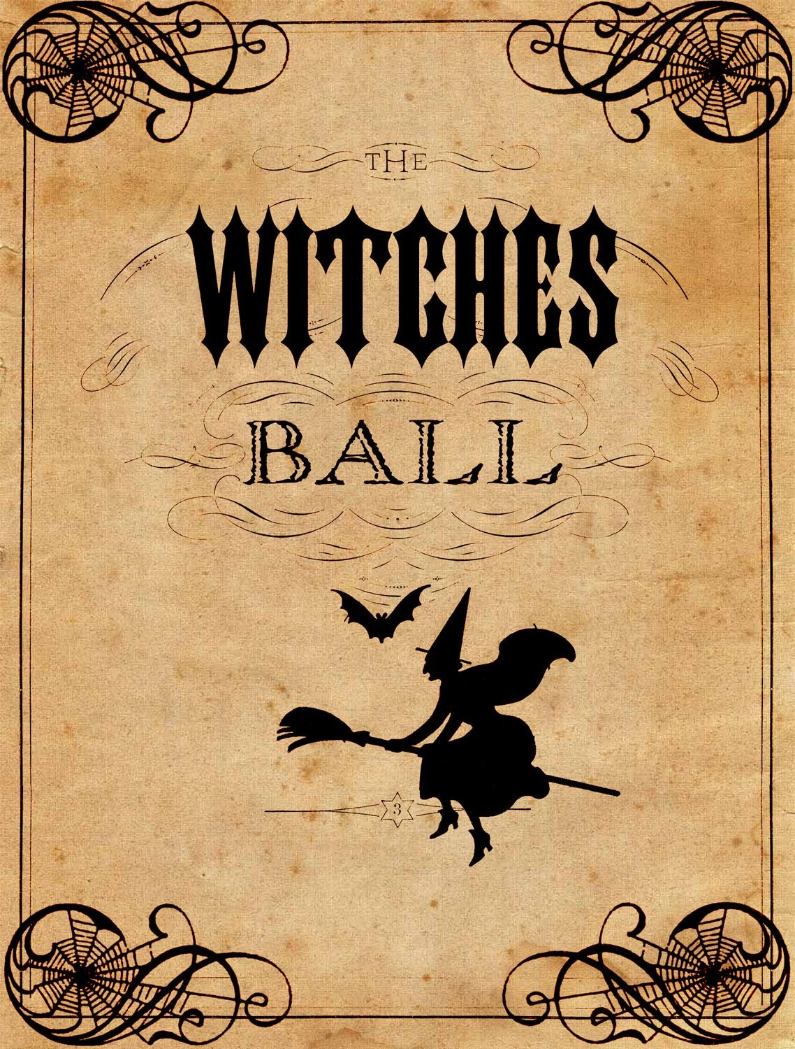 Vintage Halloween Printable - The Witches Ball | Halloween - Free Printable Vintage Halloween Images