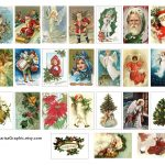Vintage Holiday Tags Printable Free | The Size Of The Tags Is 2X1.25 - Free Printable Vintage Christmas Images