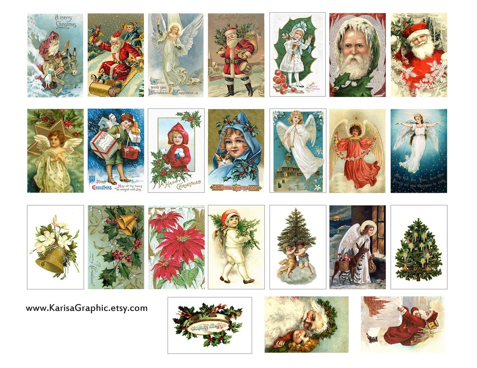 Vintage Holiday Tags Printable Free | The Size Of The Tags Is 2X1.25 - Free Printable Vintage Christmas Pictures