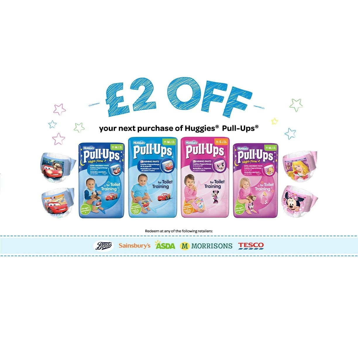 Voucher Code £2 Off Huggies Pull Ups   Freebies Of The Day Uk - Free Printable Coupons For Huggies Pull Ups