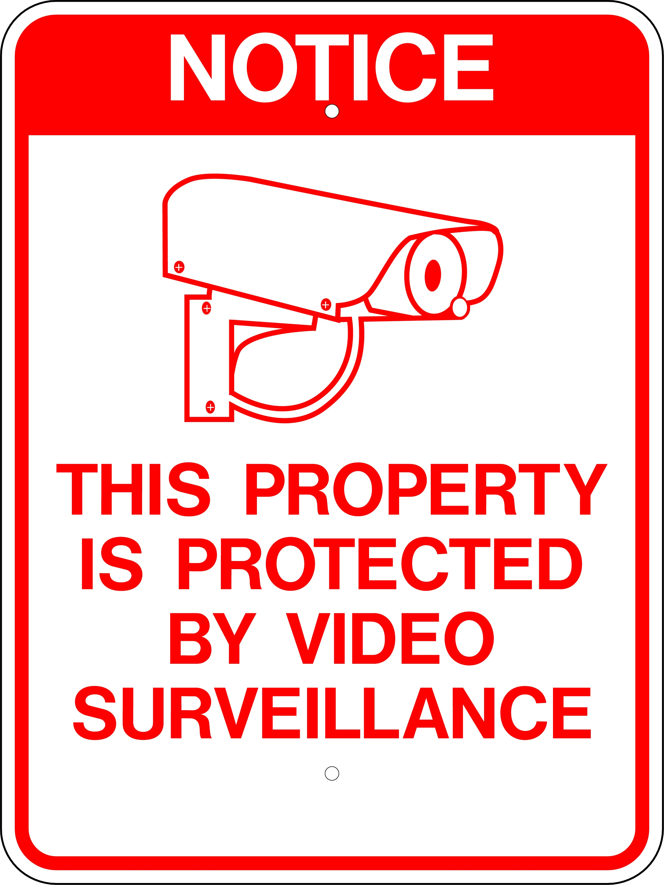 W.g.n Flag & Decorating Co. > Stock Signs & Banners > Surveillance - Printable Video Surveillance Signs Free