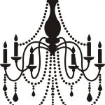 Wall Decal Art Vinyl Sticker Home Decor Chandelier | Chandelier   Free Printable Chandelier Template