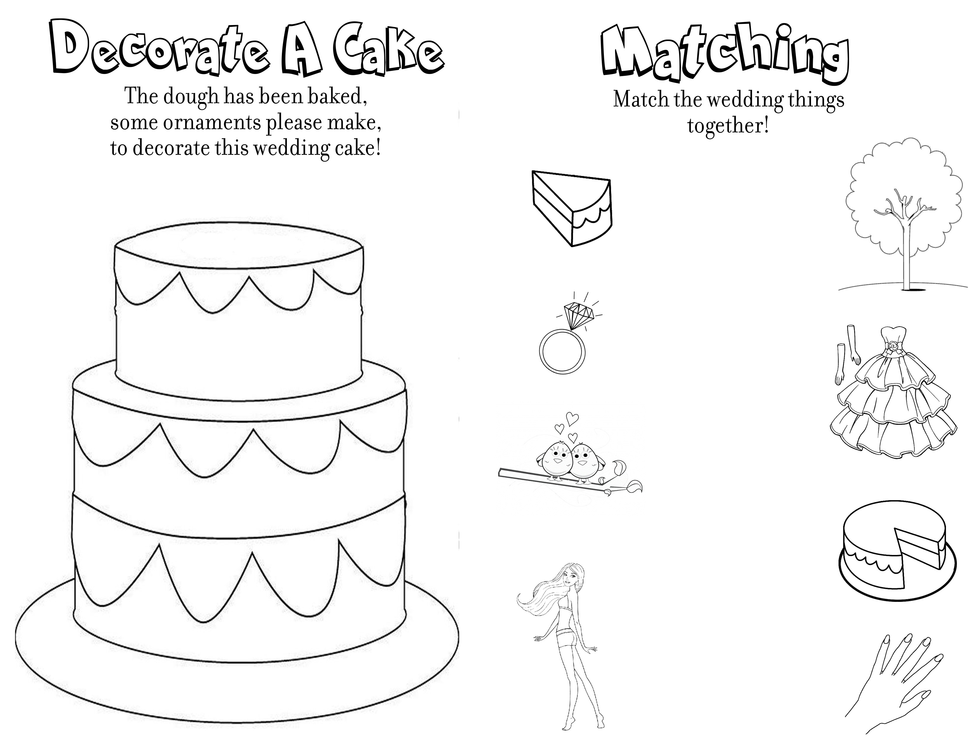 Wedding Coloring And Activity Book - Free Printable Personalized Wedding Coloring Book