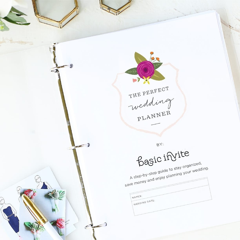 Wedding Planner Printablebasic Invite - Free Printable Wedding Organizer Templates