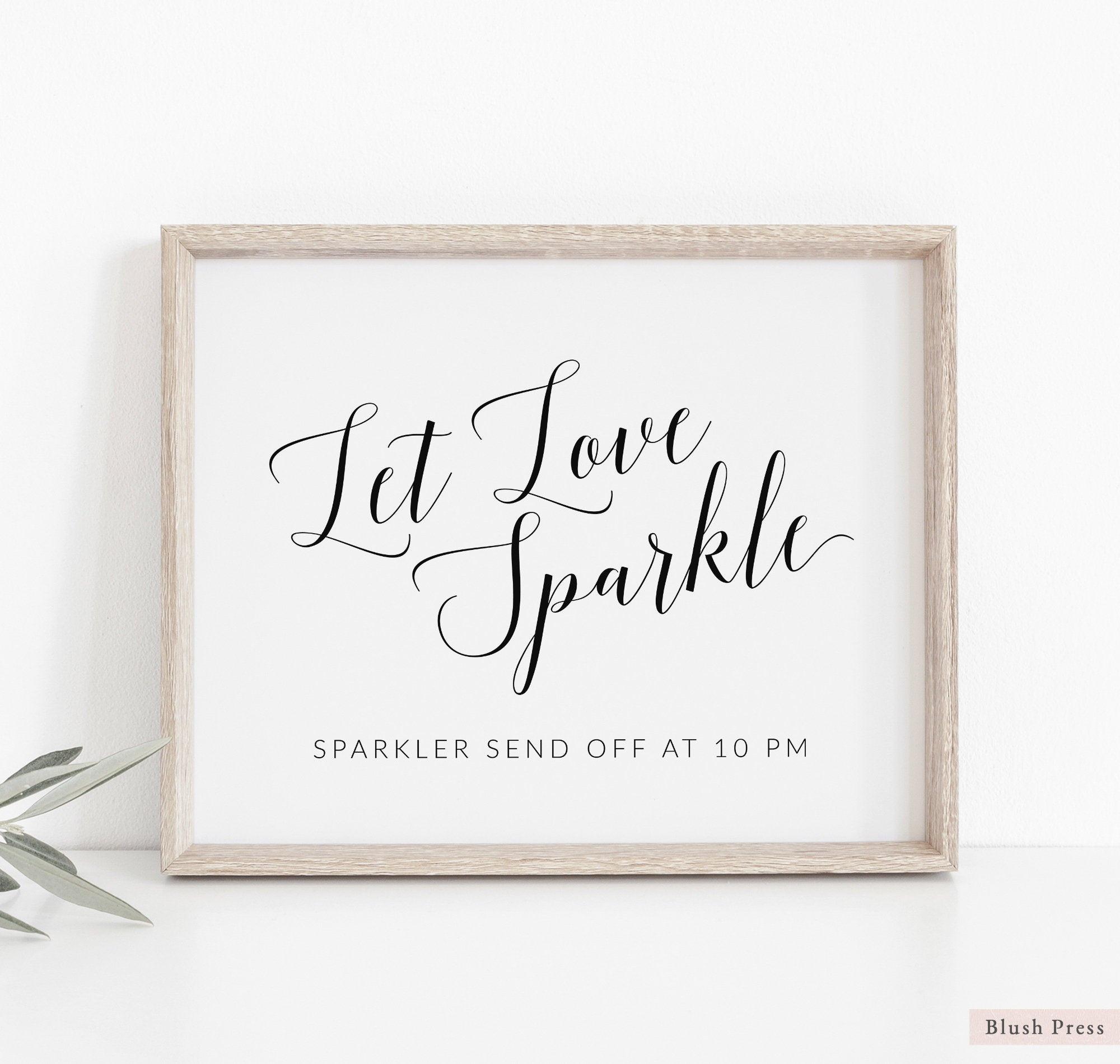 Wedding Sparkler Send Off Sign Template Printable Wedding Let | Etsy - Free Printable Wedding Sparkler Sign